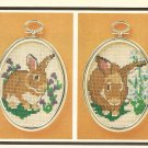 Cross Stitch - Twin Bunnies (ref: e1204cs)