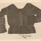 Crochet - Embroidered Drawstring Blouse (ref: e1207c)