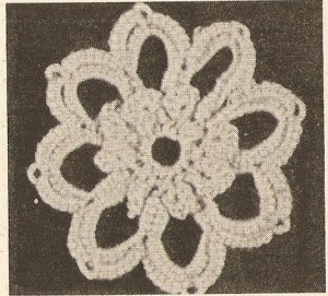 Tatted - Leaf and Flower Motifs (ref: e1211t)