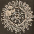 Crochet - American Beauty Ruffled Doily (ref: e1217c)
