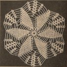 Crochet - Pinwheel Sensation Doily (ref: e1219c)