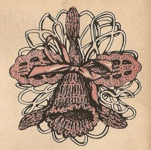 Crochet - Orchid Lapel Pin (ref: e1220c)