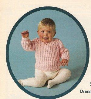 Knit  - Baby's Button Pullover (ref: e1230k)