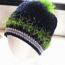 SEAHAWKS Ponytail Crochet Hat and Mitts - NFL