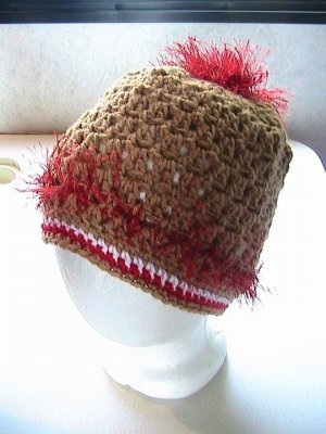 49ers San Francisco Ponytail Crochet Hat and Mitts - NFL