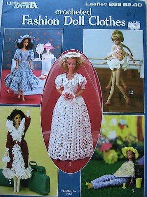 Fashion Doll Clothes - Leisure Arts Leaflet 268