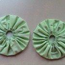 Pair - GIANT Quilting Yo-Yo's - Mint Green