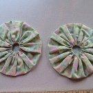 Pair - GIANT Quilting Yo-Yo's - Green Pastels
