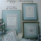 HAPPY ANNIVERSARY - Leisure Arts Leaflet 995 Cross Stitch