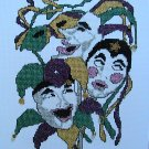 Mimes Pierrot Joker MASKS - Cross Stitch