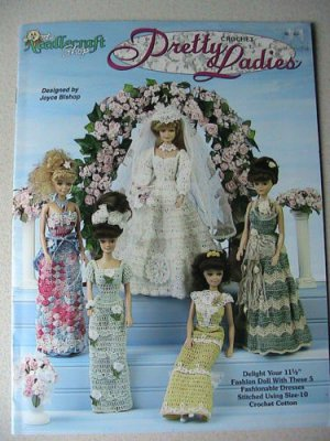 "Crochet Pretty Ladies Dresses For 11-1/2"" Fashion Dolls Patterns"