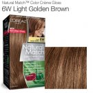 Loreal Natural Match Hair Color Creme #6w, Light Golden Brown