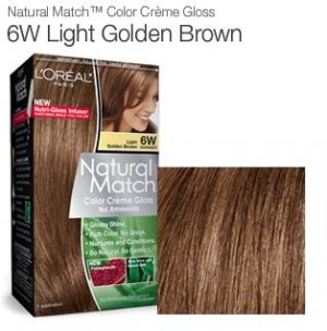 Loreal Natural Match Hair Color Creme #6w, Light Golden Brown