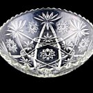 Anchor Hocking Early American Prescut Eapc glass Large Salad Bowl