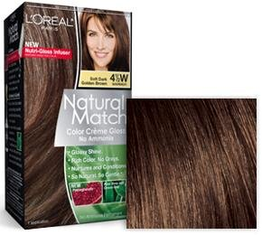 L'Oreal Natural Match hair color 4 1/2W 4.5W Soft Dark Golden Brown by l oreal