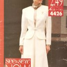 See & Sew Now #4426 Dress Suit Sewing Patterns Size 6-14 UNCUT