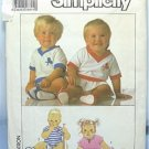 Simplicity #9131 Baby Infant Jumper Sleeper & shoes Sewing Pattern CUT
