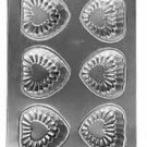 Wilton 6 Cavity Mini Embossed Heart Pan