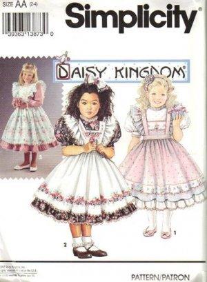 Simplicity 8318 0062 Girls Dress Sewing Pattern Size 2-4 UNCUT