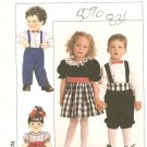 Simplicity 9431 Toddler Girls dress Boys suit Sewing Pattern UNCUT