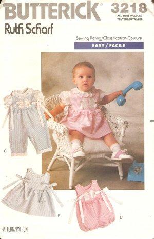 Butterick 3218 Toddler Girls dress romper Sewing Pattern CUT
