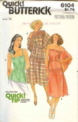 Butterick #6104 DRESS-HALTER TOP-SUNDRESS--Size 14 CUT