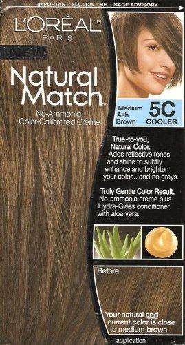 *L'Oreal Natural Match hair color 5C 5 c Medium Ash Brown by l oreal
