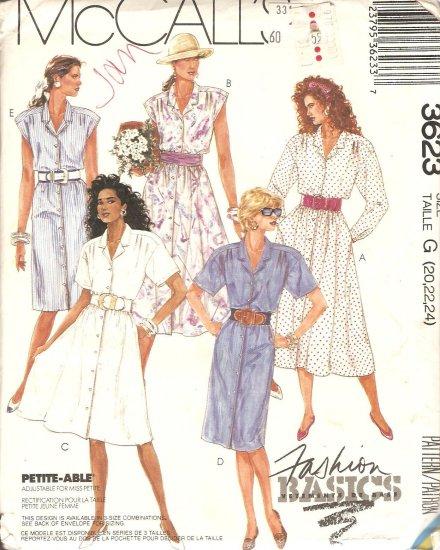 McCall's 3623 Dress Sewing Pattern plus size 20 22 24