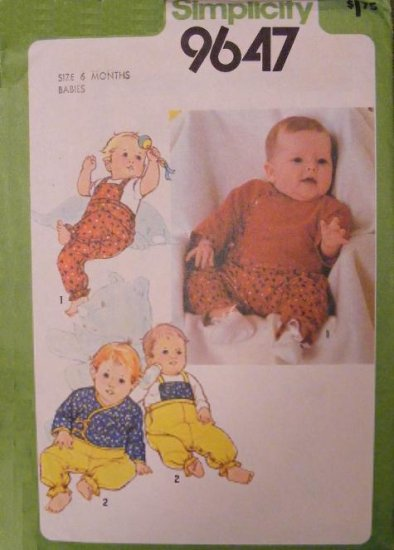 Simplicity 9647 Sewing pattern Baby sleepers layette outfit