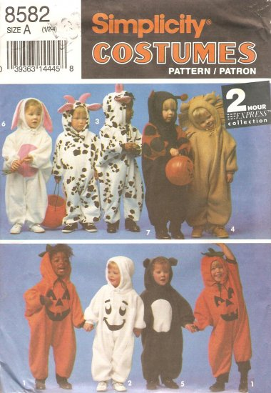 Simplicity 8582 Kids Toddler Costumes Sewing pattern