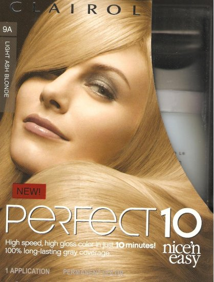 clairol nice n easy perfect 10 hair color  9a light ash blonde