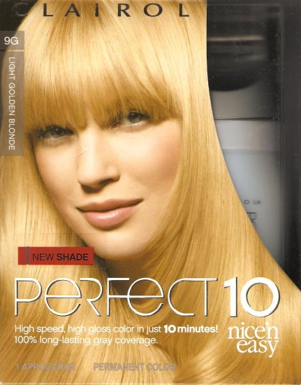 Clairol Perfect 10 Permanent Color 9g Light Golden Blonde