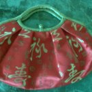 Oriental red handbag purse