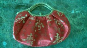 Oriental red handbag purse
