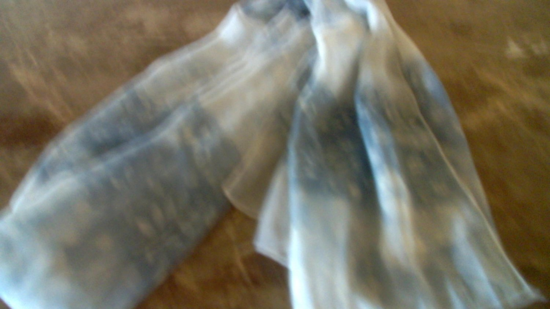 Leafprint scarf - blue