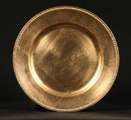 Gold Tabletop Classics Round Charger Plate - Beaded Rim