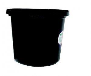 Miller Mfg Co Inc Flat Back Plastic Bucket (p20fbblack)