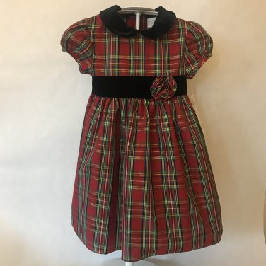 toddler girl black velvet plaid christmas dress outfit 4t toddler
