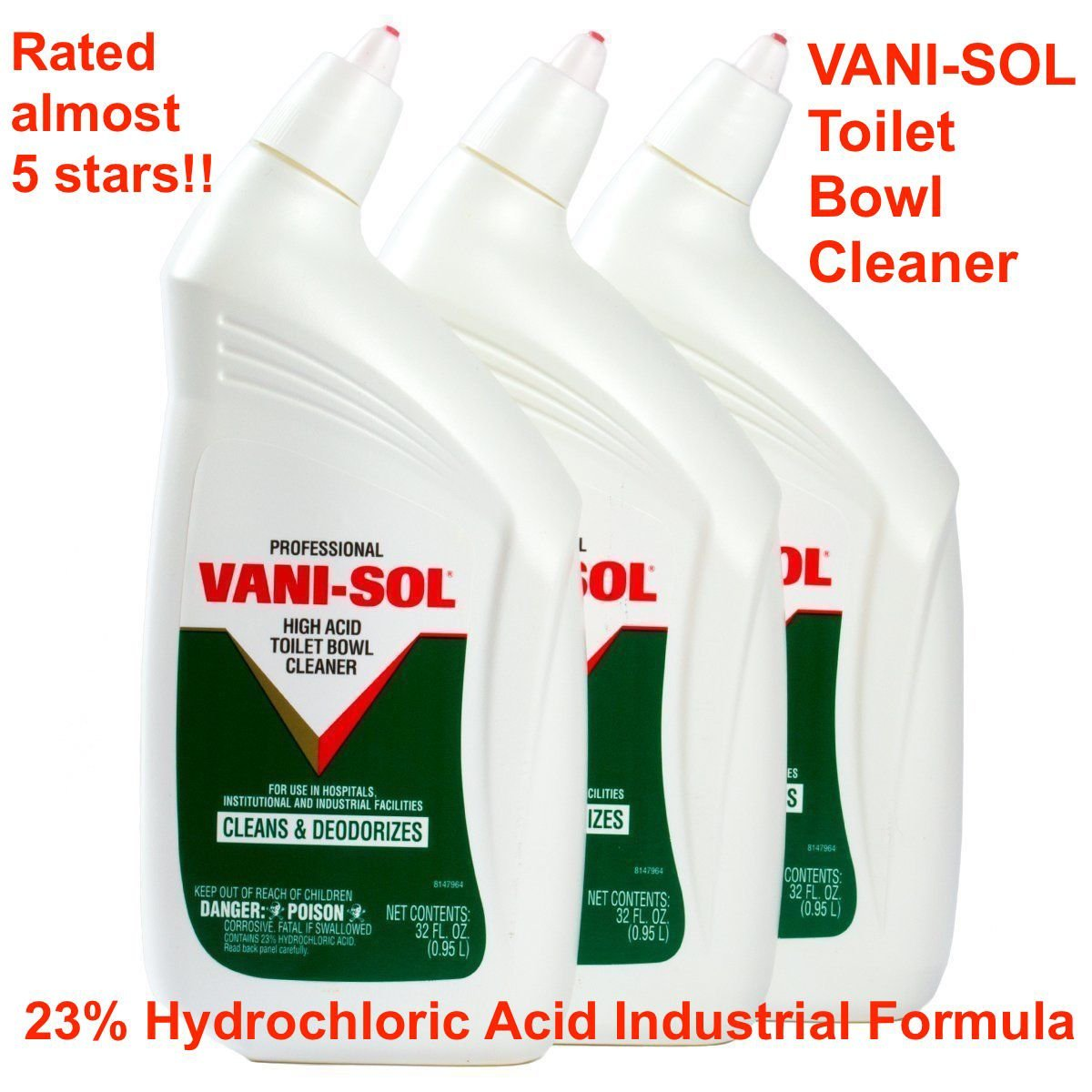 Vani Sol Toilet Bowl Cleaner High Acid Stain Remover