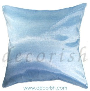 Silk Cushion Cover - Pale Blue Color