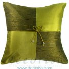 LIME Silk Decorative Pillow Covers - Checker Design