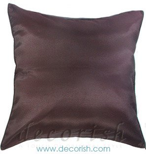 BROWN Silk Throw Decorative Pillow Covers