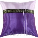 Silk Decorative Pillow Cover - VIOLET / PURPLE Elephants Design