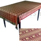 Reversible Thai Silk Table Cloths / Covers with wonderful Thai Elephant stripes Maroon