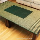 Reversible Thai Silk Table Cloth Green / Gold