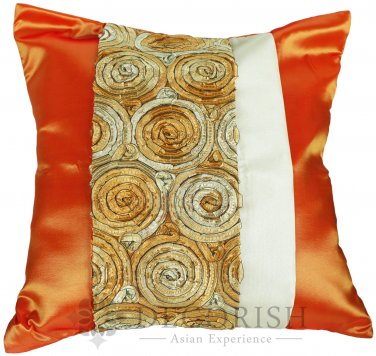 Silk Throw Decorative Pillow Covers for Couch and Bed - Rose Stripes