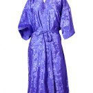 Decorish Unisex Lightweight Silk Kimono Bathrobe for Women & Men Rose Violet Purple