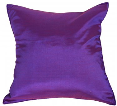 Purple Silk Throw Decorative Pillow Cases for Sofa Couch 16x16
