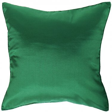 Christmas Green Silk Throw Decorative Pillow Cases for Sofa Couch 16x16