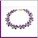 14K Solid Gold 20.0 CT Natural Amethyst Bracelet